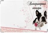 Обложка на ветеринарный паспорт, с розой