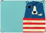 Обложка на автодокументы с уголками, Медвед