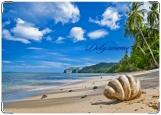 Обложка на автодокументы с уголками, Пляж