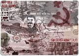 Обложка на военный билет, Ленин, Сталин и танки