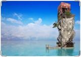 Обложка на паспорт с уголками, остров
