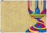 Обложка на военный билет, краски