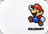Обложка на паспорт с уголками, Марио