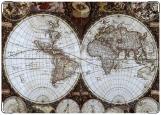 Обложка на паспорт с уголками, глобус