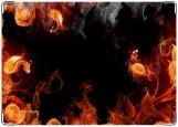 Обложка на паспорт с уголками, в огне