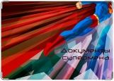 Обложка на автодокументы с уголками, Документы супермена