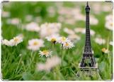 Обложка на паспорт с уголками, Париж на ромашковом поле