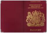 Обложка на паспорт с уголками, Британия