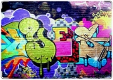 Обложка на паспорт с уголками, граффити