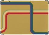 Обложка на военный билет, линии