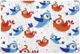 Обложка для свидетельства о рождении, Птички
