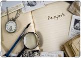 Обложка на паспорт с уголками, Винтаж