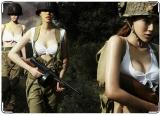 Обложка на военный билет, girl army