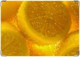 Обложка на паспорт с уголками, лимон