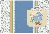 Обложка для свидетельства о рождении, Мальчик в коляске