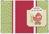 Обложка для свидетельства о рождении, Девочка в коляске