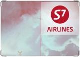 Обложка на паспорт с уголками, S7 (Лётная коллекция)