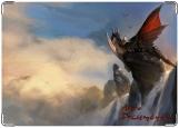 Обложка на автодокументы с уголками, Дракон