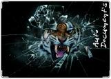 Обложка на автодокументы с уголками, Вырвавшийся тигр