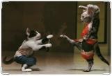 Обложка на ветеринарный паспорт, Танцоры