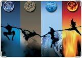 Обложка на паспорт с уголками, Четыре стихии