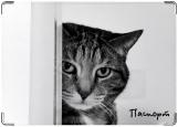 Обложка на паспорт с уголками, Грустный кот