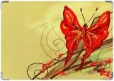 Обложка на паспорт с уголками, Бабочка