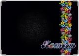 Обложка на паспорт с уголками, цветочный