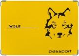Обложка на паспорт с уголками, Волк