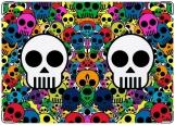 Обложка на паспорт с уголками, Skull