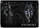 Обложка на паспорт, skyrim