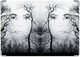 Обложка на автодокументы с уголками, Иллюзия леса