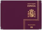 Обложка на паспорт с уголками, Espana Pasaporte violet
