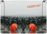 Обложка на паспорт с уголками, Зонт
