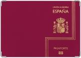 Обложка на паспорт с уголками, Espana Pasaporte purple