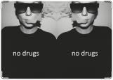 Обложка на паспорт с уголками, no drugs
