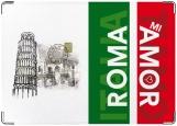 Обложка на паспорт с уголками, ROMA