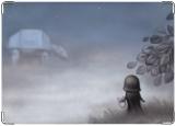 Обложка на паспорт с уголками, Дарт Вейдер в тумане1