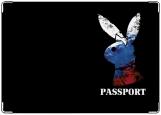 Обложка на паспорт с уголками, Russian Playgirl