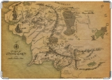 Обложка на паспорт с уголками, Карта Мордора