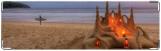 Визитница/Картхолдер, замок на песке