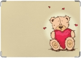 Обложка на паспорт, Мишка Тедди - Сердце