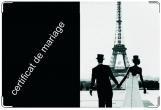 Обложка для свидетельства о рождении, черно-белый Париж1