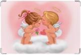 Обложка для свидетельства о рождении, ангелочки