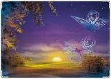 Обложка на паспорт с уголками, Бабочки заката
