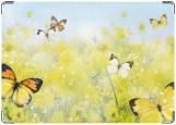 Обложка на паспорт с уголками, Летние бабочки