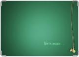 Обложка на паспорт с уголками, life is music