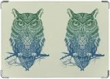 Обложка на паспорт с уголками, owl [СОВА]
