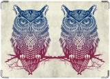 Обложка на паспорт с уголками, СОВА