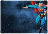 Обложка на паспорт с уголками, супермен